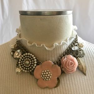 Floral Statement Choker Necklace